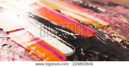 Abstract Acrylic Wet Paint Hand-painted Background Texture