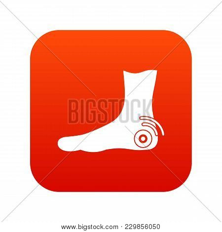 Foot Heel Icon Digital Red For Any Design Isolated On White Vector Illustration