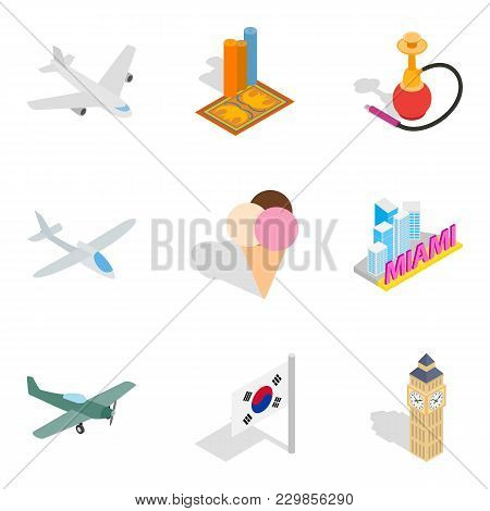 Unforgettable Journey Icons Set. Isometric Set Of 9 Unforgettable Journey Vector Icons For Web Isola