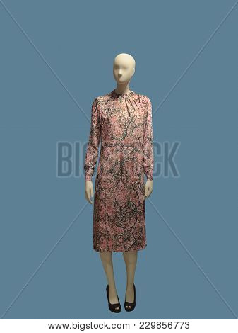 Full-length Female Mannequin Dressed In Fashionable Clothes, Isolated. No Brand Names Or Copyright O