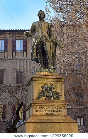 Monument To The Nicola Spedalieri Was An Italian Priest, Theologian And Philosopher In Rome, Italy
