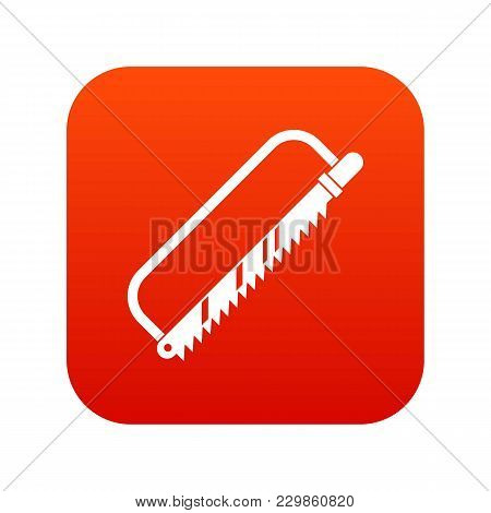 Sergical Saw Icon Digital Red For Any Design Isolated On White Vector Illustration