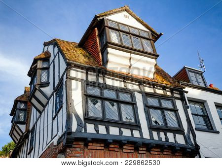Traditional old English Tudor style timber-framed house in Hastings East Sussex  South East England UK