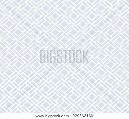 Abstract Geometric Patern With Rhombuses. A Seamless Vector Background. White And Blue Texture. Grap