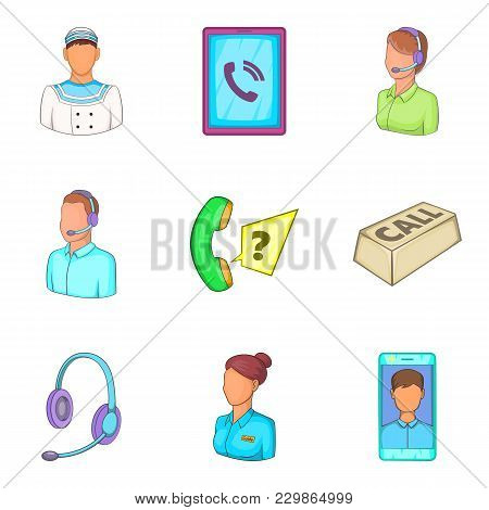 Characteristic Icons Set. Cartoon Set Of 9 Characteristic Vector Icons For Web Isolated On White Bac