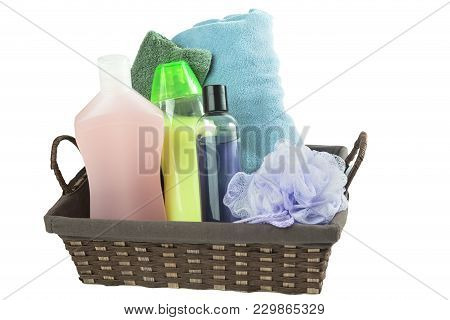Isolated On White Assorted Bath Or Beauty Stuff