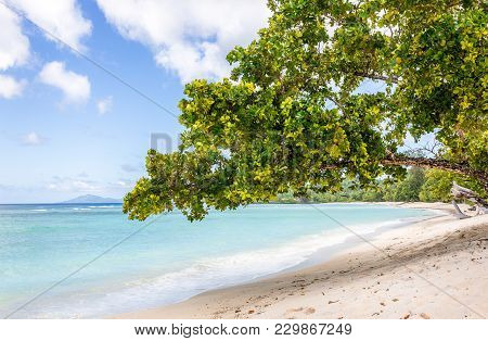 Sandy Beach On Silhouette Island, Seychelles