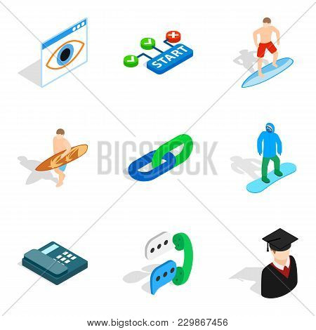 Personnel Department Icons Set. Isometric Set Of 9 Personnel Department Vector Icons For Web Isolate
