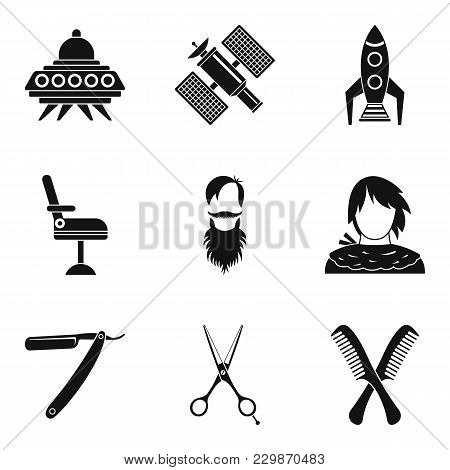 National Staff Icons Set. Simple Set Of 9 National Staff Vector Icons For Web Isolated On White Back