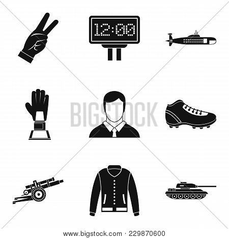 Ultimate Victory Icons Set. Simple Set Of 9 Ultimate Victory Vector Icons For Web Isolated On White