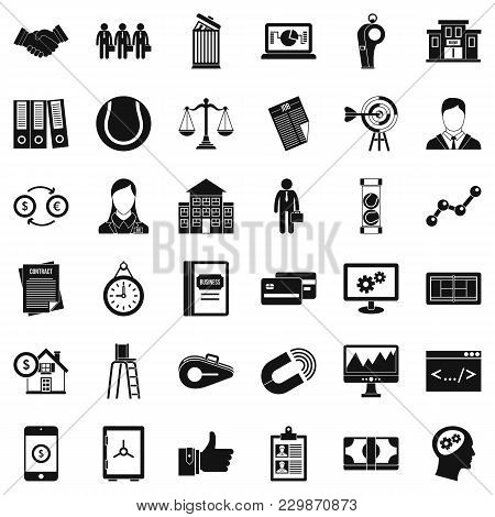 Partnership Relation Icons Set. Simple Set Of 36 Partnership Relation Vector Icons For Web Isolated