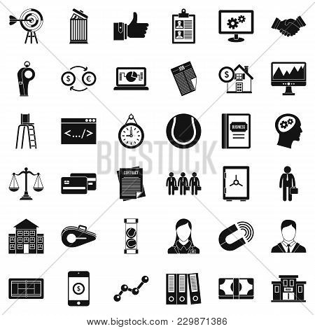 Business Partnership Icons Set. Simple Set Of 36 Business Partnership Vector Icons For Web Isolated