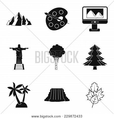 Foreign Attractions Icons Set. Simple Set Of 9 Foreign Attractions Vector Icons For Web Isolated On