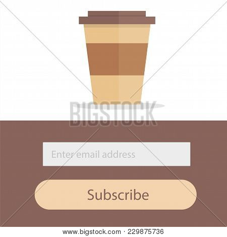 Template For Subscribe To A Newsletter - Coffee Modern Creative Concept For Restaurant Or Coffee Hou