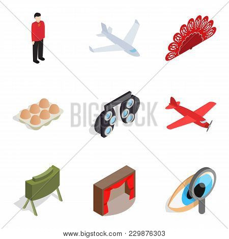 Selling Icons Set. Isometric Set Of 9 Selling Vector Icons For Web Isolated On White Background