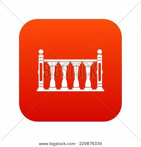 Balustrade Icon Digital Red For Any Design Isolated On White Vector Illustration