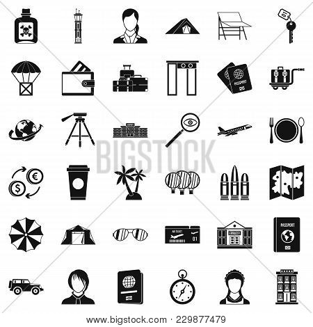 Pass Icons Set. Simple Set Of 36 Pass Vector Icons For Web Isolated On White Background