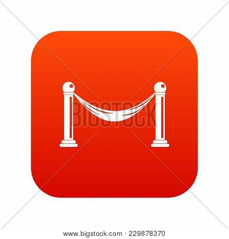 Barrier Icon Digital Red For Any Design Isolated On White Vector Illustration