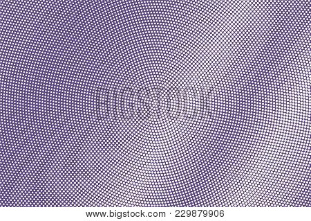 Violet White Dotted Halftone. Sparse Dark Dotted Gradient. Half Tone Vector Background. Abstract Fut