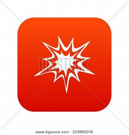 Heavy Explosion Icon Digital Red For Any Design Isolated On White Vector Illustration