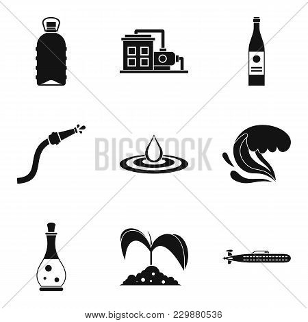 Water Supply Icons Set. Simple Set Of 9 Water Supply Vector Icons For Web Isolated On White Backgrou