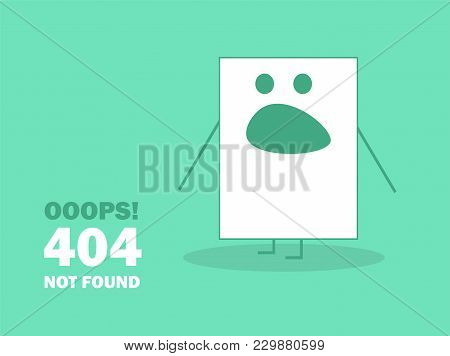 404 Error Page Not Found Emoticon - Modern Vector Illustration