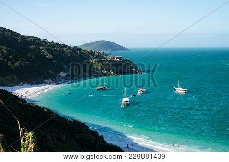 Beautiful Coastline Of Arraial Do Cabo In Summertime, Rio De Janeiro, Brazil