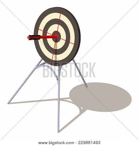 Perfection Target Icon. Isometric Illustration Of Perfection Target Vector Icon For Web