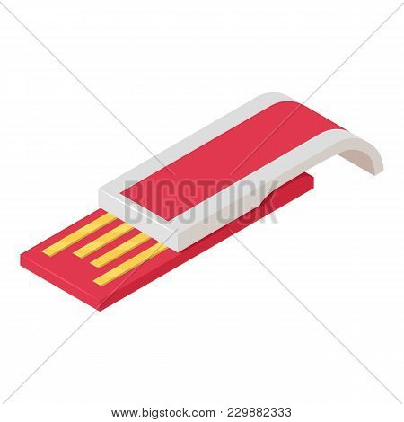 Usb Device Icon. Isometric Illustration Of Usb Device Vector Icon For Web