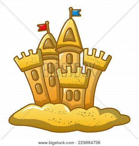 Built Castle Icon. Cartoon Illustration Of Built Castle Vector Icon For Web