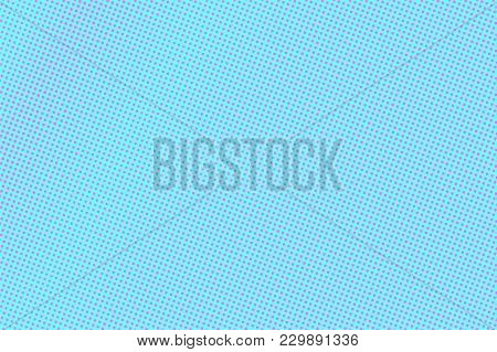 Blue Pink Dotted Halftone. Subtle Faded Dotted Gradient. Half Tone Vector Background. Artificial Tex