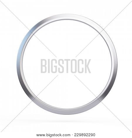 Metal ring isolated on white background - 3d illustration