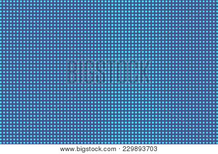 Blue Violet Dotted Halftone. Vertical Regular Dotted Gradient. Half Tone Vector Background. Artifici