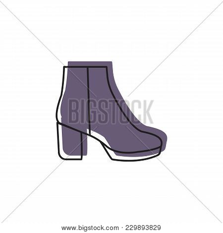 Womans Boot Icon. Doodle Illustration Of Womans Boot Vector Icon For Web And Advertising