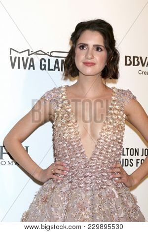 LOS ANGELES - MAR 4:  Laura Marano at the 2018 Elton John AIDS Foundation Oscar Viewing Party at the West Hollywood Park on March 4, 2018 in West Hollywood, CA