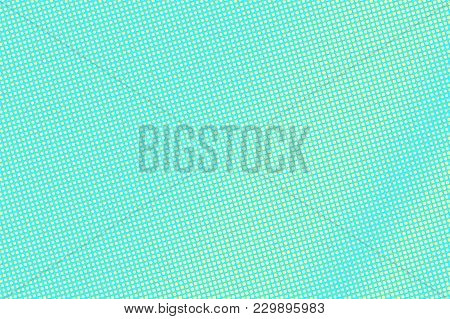 Turquoise Yellow Dotted Halftone. Diagonal Subtle Dotted Gradient. Halftone Vector Background. Artif