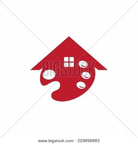 House Painting Service Decor And Repair Icon. Concept For Home Decoration Building House Constructio