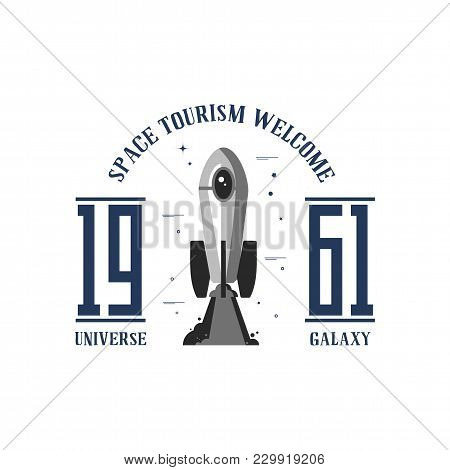 Space - A Banner, Planets In The Universe, Can Be Used As A Patch, Badge, Sticker. Vector Illustrati
