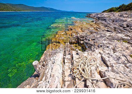 Idyllic Rocky Beach Sakarun On Dugi Otok Island, Archipelago Of Dalmatia, Croatia