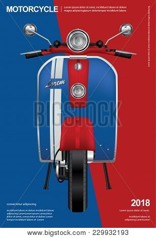 Vintage Motorcycle Transportation Poster Isolated Vector Illustration