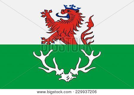 Flag Of Odenthal Is A Municipality In The Rheinisch-bergischer Kreis, In North Rhine-westphalia, Ger