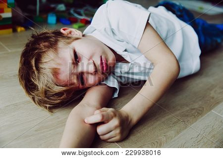 Sad Child, Stress And Depression, Pain And Despair