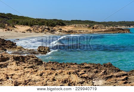 Beach Punta Della Suina, Salento, Italy
