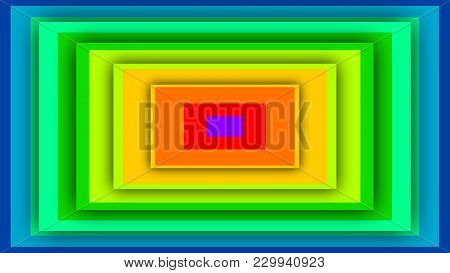 Colorful Background From Rainbow Rectangles