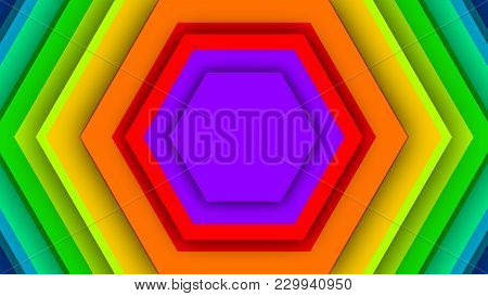 Multicolored Backdrop From Rainbow Hexagons