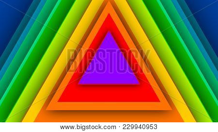 Multicolored Backdrop From Rainbow Triangles