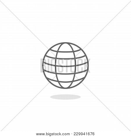 Worldwide Internet Icon. Globe Sign. Planet Favicon For Sites