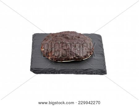 Colorful And Crisp Image Of German Lebkuchen On Shale Isolated