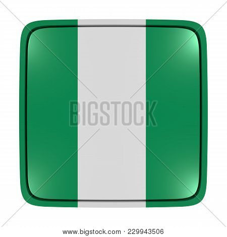 3d Rendering Of A Nigeria Flag Icon. Isolated On White Background.