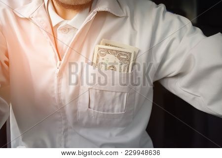 Man With Us Dollar For Use In Car,money For Everyday Life